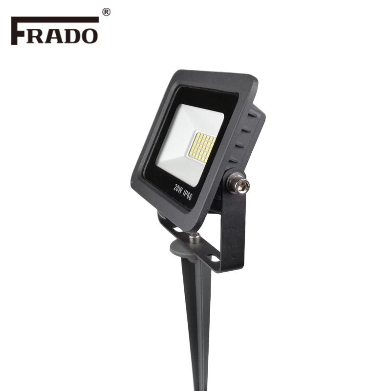 Lámpara de jardín al aire libre de 220V, lámpara de picos LED de luz LED para jardín, focos de paisaje de camino de estanque a prueba de agua, focos LED de 10W 20W
