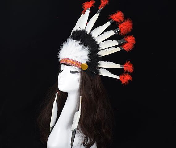 Pluma India tocado corona gorro de guerra halloween disfraz sombrero diadema para fiestas gorra colorida adolescentes adultos favores