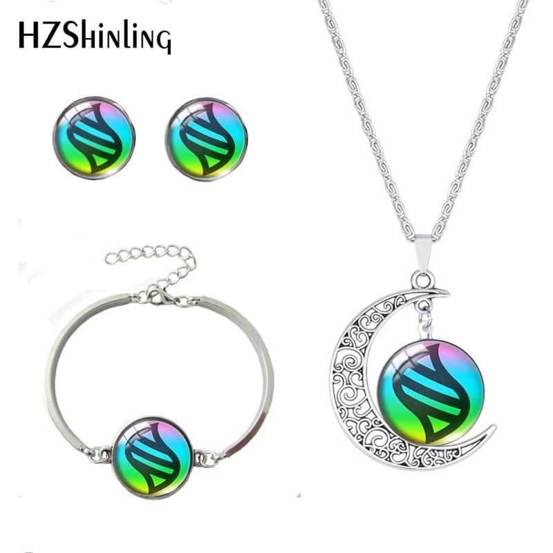 Hzshinling cúpula de vidro quente jóias pokeball redondo colar pulseira brincos pikachu pingente conjuntos de jóias