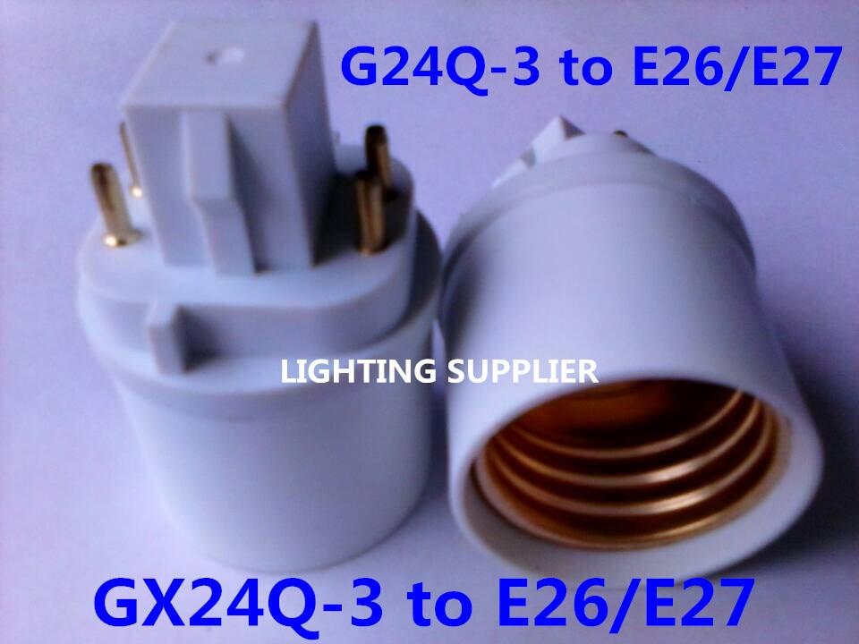 5 pcs G24Q-3 para E26/E27 LED soquete adaptador G24Q-E26/E27 Conversor GX24Q para E26/E27 Extensor 4Pin GX24Q-E26/E27 base da lâmpada titular
