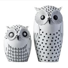 Big Eye Owl Living Room Loft Furnished Display Decoration Mascot Wedding Birthday Gift Toy Art Resin Owl