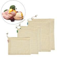 9 pièces/6 pièces sac à provisions en coton sac de rangement à cordon