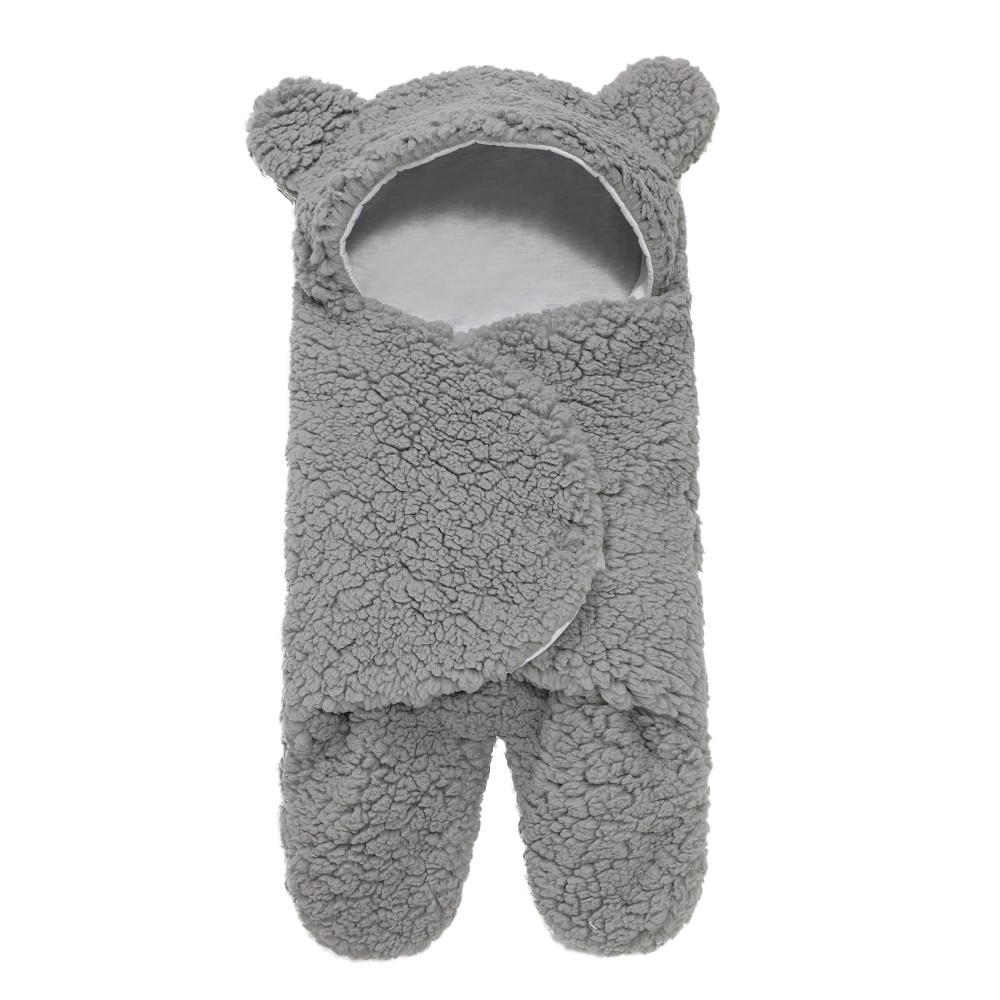 Newborn Sleeping Wrap Swaddle Baby Cotton Plush Boys Girls Cute Receiving Blanket Sleeping Bag Sleep Sack (0-6 Month)