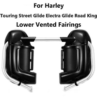 for touring electra glide road king street glide ultra fltr 1983 2013 vivid black lower leg warmer vented fairing glove box