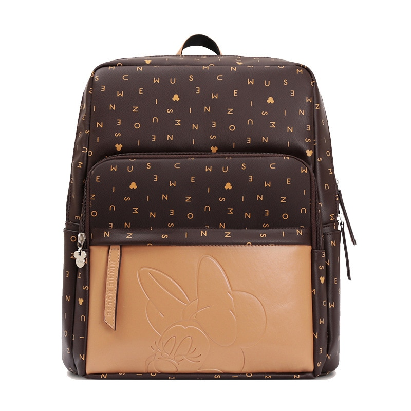 Disney водонепроницаемая сумка для подгузников для мамы большой объем сумки для подгузников уход за ребенком сумка для смены с USB нагревателем классический кожаный дизайн DPB24