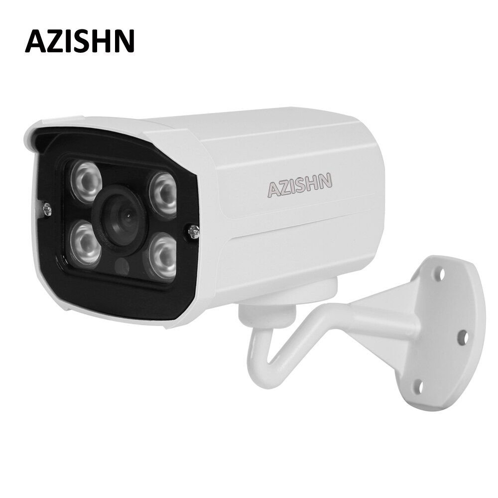 AZISHN H.265 SuperHD 5MP 2MP IP Camera PoE 4PCS Array LEDs Night Vision Surveillance Cameras metal Outdoor P2P Motion Detect