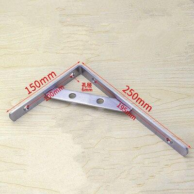 Fabricación de chapa metálica soportes planos de Metal para literas, 250mm de longitud x 150mm de ancho x 3mm de espesor