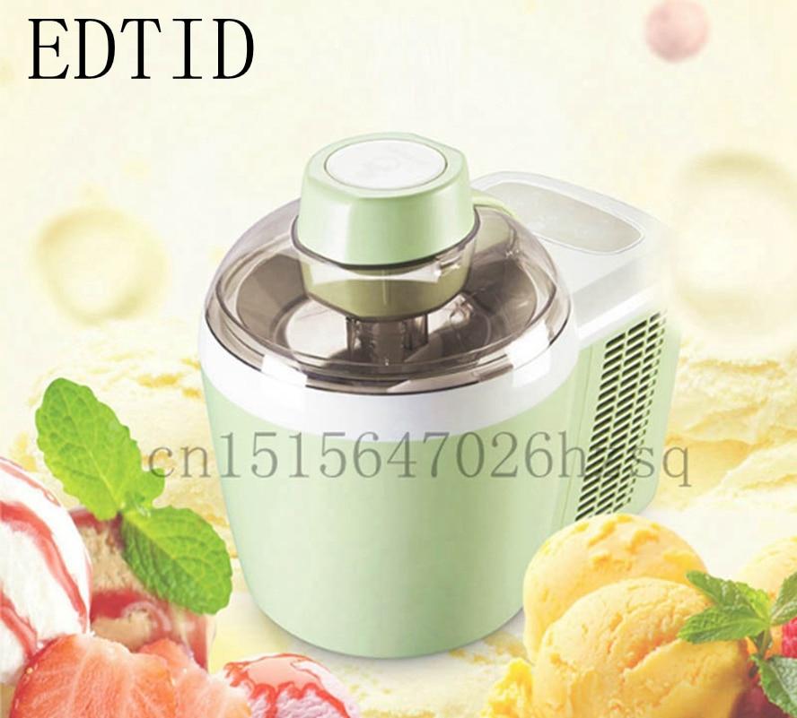 EDTID, máquina automática completa de helados, mini máquina de helados, inteligente para el hogar, capacidad de 0,6 l QT, fabricante de sorbetes de yogur congelado