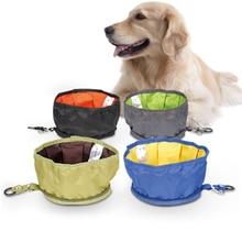 Sac de rangement des aliments   Bol deau pliable pour chien, sac de rangement des aliments, plateau de collation pour animaux domestiques, boisson étanche, tissu oxford, voyage Camping, distributeur de nourriture