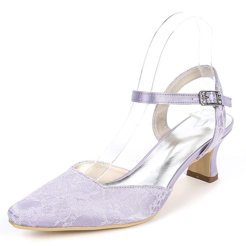 Creativesugar Punta de Orsay correa de tobillo medicina casco dama de tacón elegante baile de graduación fiesta, nupcial, boda zapatos bombas lavanda