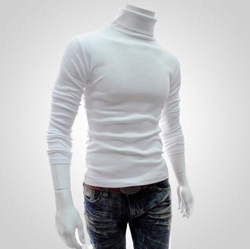Meihuida, 2019, pulóver liso de moda para hombres, abrigo, suéter de manga larga con cuello alto, chaqueta, Jersey, Tops de punto regulares