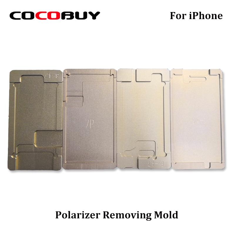 Novecel molde para iphone series LCD remover polarizador Polarizador filme titular molde do Molde OCA cola adesiva cola UV para a tela reparação