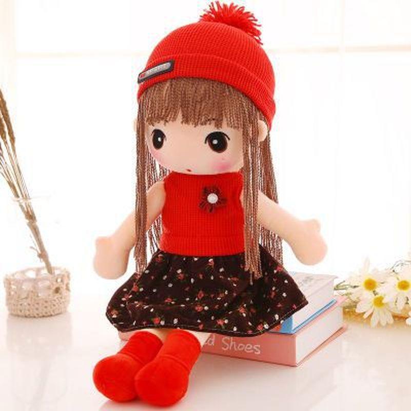 """45 ס""""מ פנטזיה בנות בובות צעצוע תינוק ממולא בפלאש חתונת ולנטיין יום הולדת מתוקה נסיכת בובות בובת סמרטוטים חמודה מתנה לחג המולד"""