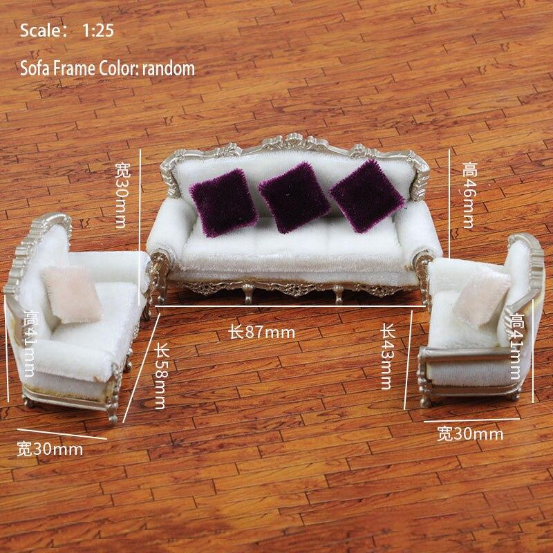 125 simulación de estilo europeo sofá almohada modelo conjunto muebles arena Mesa escena decoración modelo accesorio de construcción