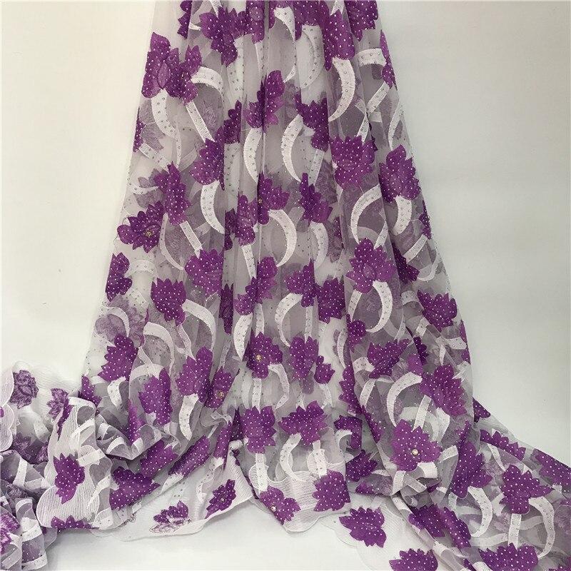 Африканский кружевной ткани 2018 вышитые нигерийские кружева ткань Свадебные
