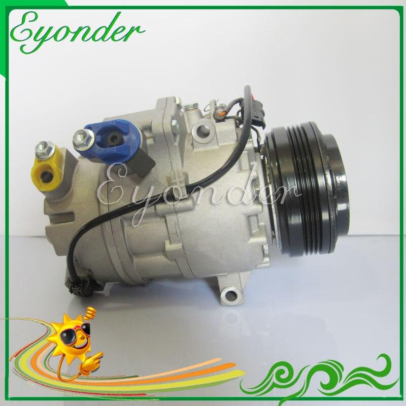 CALSONIC CSE17C AC A/C Compressor de Ar Condicionado Bomba De Refrigeração PV4 para BMW série X5 3.0L L6 xDrive30i 2007 -2010 58647 98447