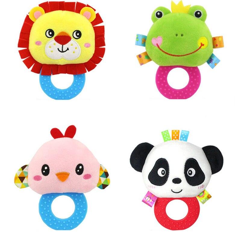 Sonajeros para bebé Happy Monkey, sonajeros con sonajero de mano, sonajeros de gelatina, sonajeros para bebés 0-1Y, juguetes de peluche, sonajeros de animales