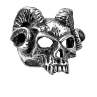 2018 gothic hells doorman ring retro fashion accessories party ring long ram corner shape novelty ring ornament