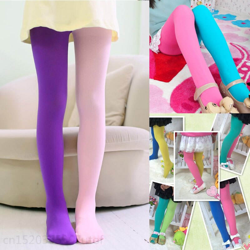 Mädchen Leggings Doppel Candy Farbe Warme Strümpfe Kinder Strumpfhosen Unterhose