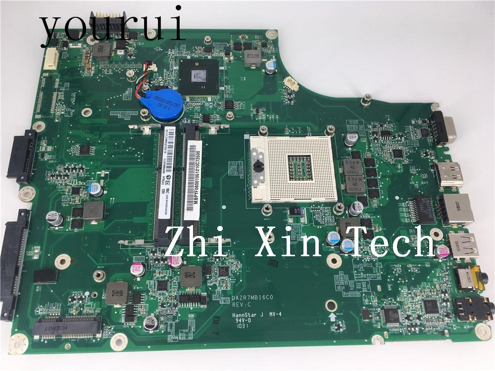 Yourui para Acer Aspire 5820 5820T ordenador portátil Mortherboard MB. PYF06.001 MBPYF06001 DAZR7MB16C0 100% probado por completo