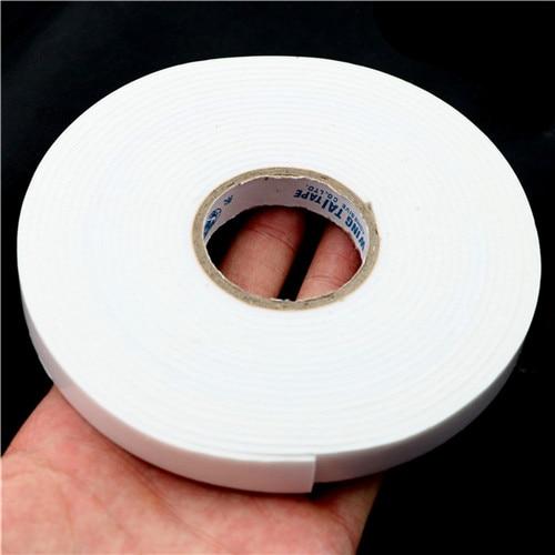 Tampon auto-adhésif de bande Double face de mousse de 5M pour le support de fixation collant Super fort ruban adhésif Double face