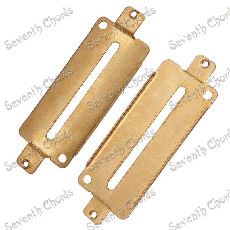 10 Pcs/lot Pack 30mm*70mm Brass Electric Guitar Humbucker Pickup Baseplate  Guitar parts