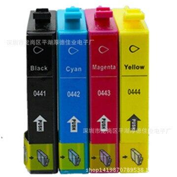 T0441 E-441 T0444 E-444 Ink Cartridges Replacement Stylus C64 C66 C84 C84N C84WN C86 CX3600 Inkjer Printer
