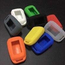 20 pcs Silicone Caso Chaveiro para Starline A92 A92 Versão Russa/A94/V62/A62/A64 LCD Dois Sentidos Remoto do Sistema de Alarme de Carro Chaveiros