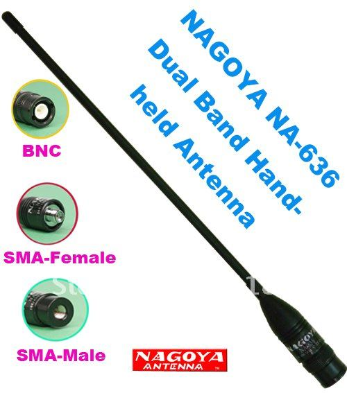 Antena Original Nagoya NA-636 SMA macho Dual banda antena para Yaesu VX-7R VX-6R VX-3R PX-2R TH-2R TH-UVF1 NF-6600 PX-359 PX-358