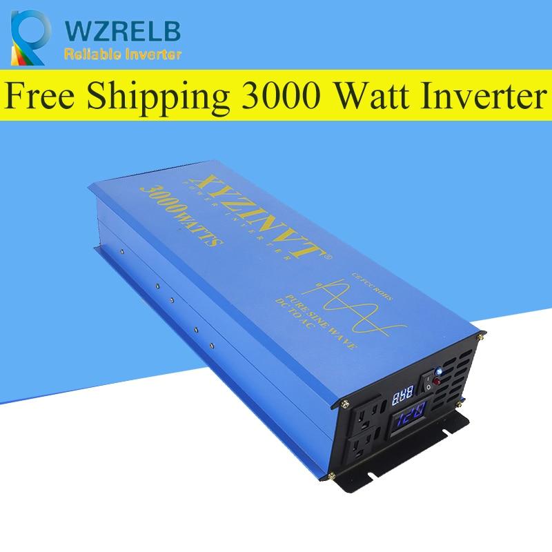 Inversor solar de onda sinusoidal pura de 3000w de potencia continua de 24V a 220V convertidor solar de onda sinusoidal pura fuera de red