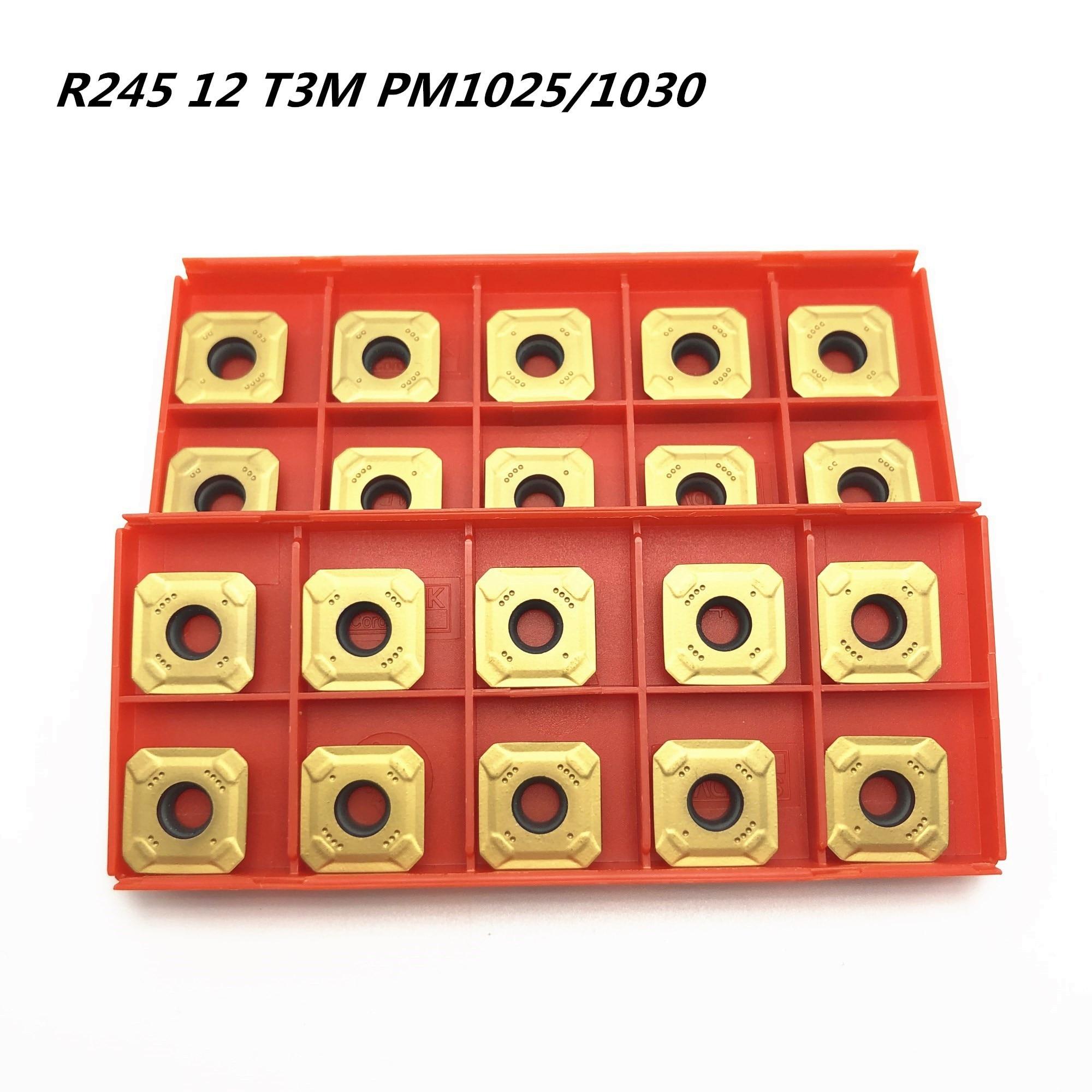 Fresa R245-12T3M-PM 1025 1030 4240 de alta qualidade carboneto fresa r245 12t3 cnc torno cortador