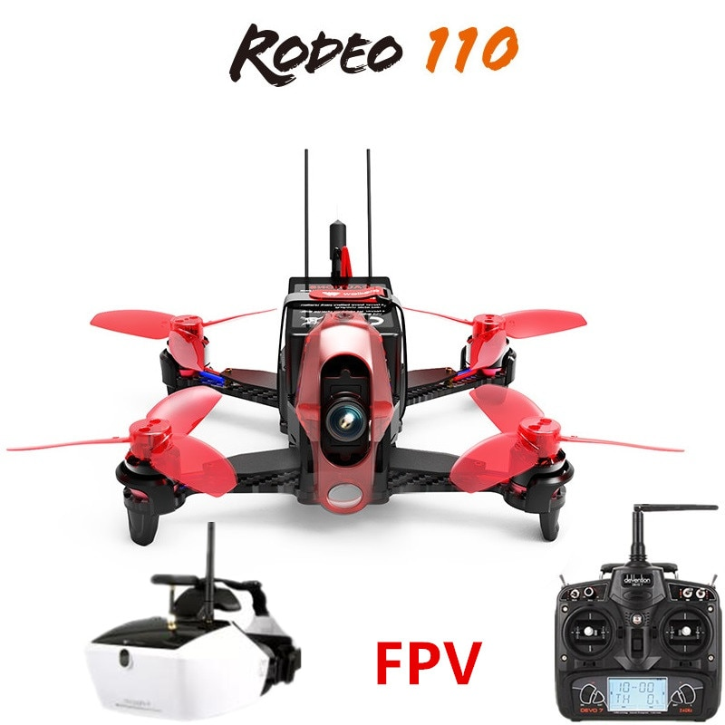 Walkera Rodeo 110 + DEVO 7 Remote Control + Goggle 4 Glasses RC Racing Drone FPV Quadcopter RTF (600