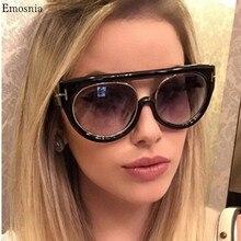 Emosnia Preto Flat Top Qualidade Quente Do Olho de Gato óculos de Sol Das Mulheres Dos Homens Senhora Óculos de Sol de Design Da Marca de Luxo de Óculos Super star elegante