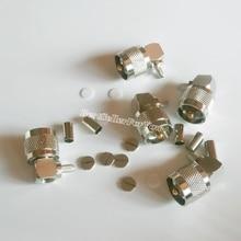 UHF mâle PL259 connecteur RF à sertir   5 pièces, Angle droit à 90 degrés RG58 LMR195 RG142, câble RF RG400