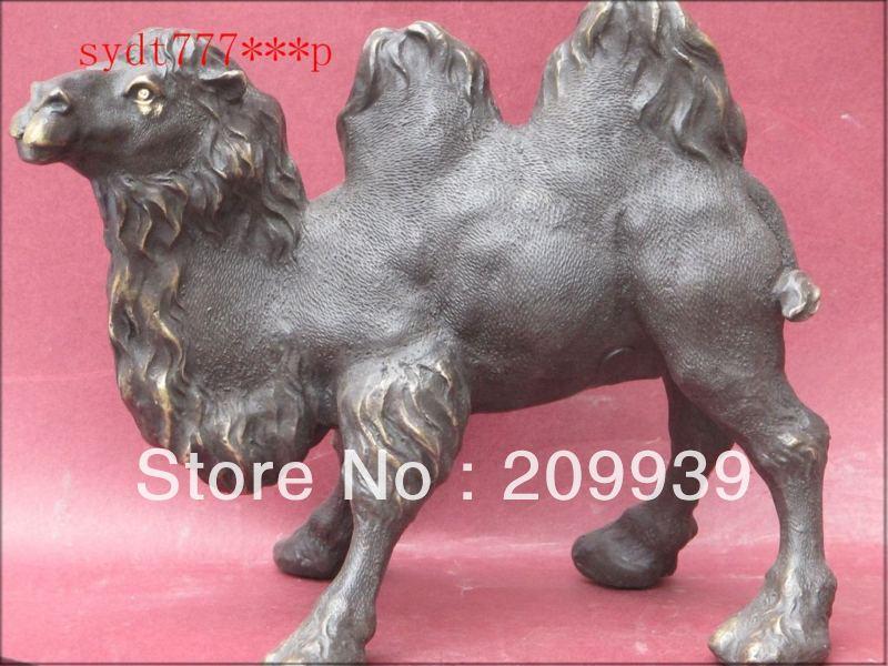 Gratis Verzending Hd097 Schip Van De Woestijn-Camel Art Bronzen Standbeeld