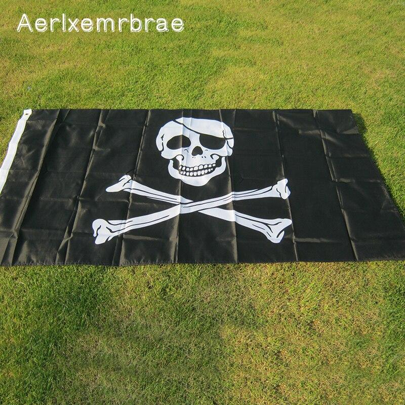 Флаг aerlxemrbrae, флаг пиратов, висячий флаг Джолли Роджера, флаг пирата для украшения места проведения вечерние и фестивалей