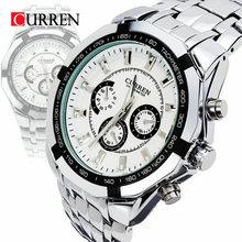 Curren Brand Fashion Mens Full stainless steel Military Casual Sport Watch waterproof relogio masculino quartz Wristwatch Sale