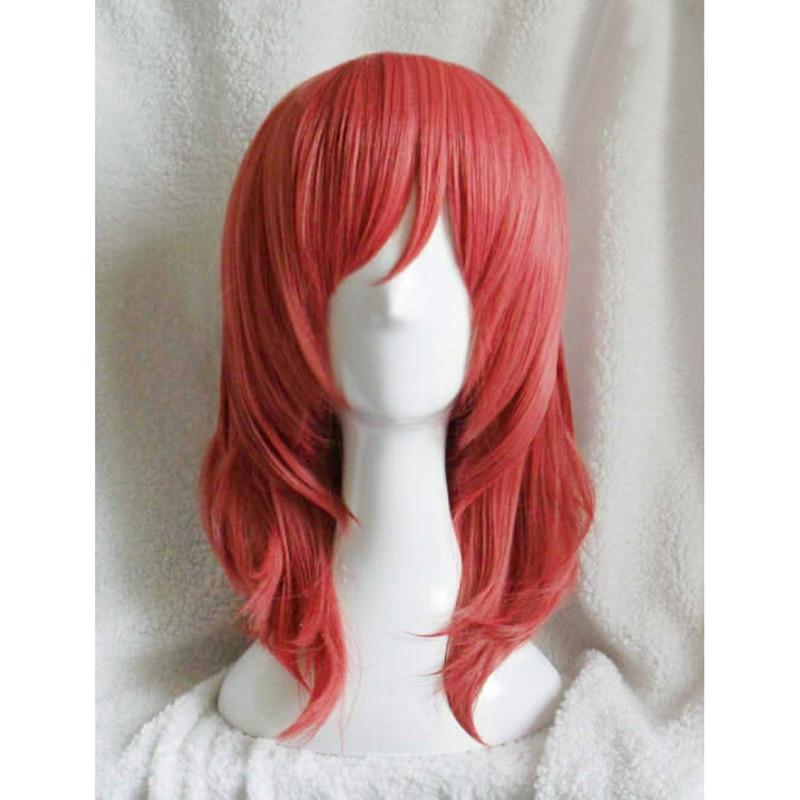 Lovelive! Amor ao vivo maki nishikino curto encaracolado sintético resistente ao calor cosplay traje peruca + código de trilha touca peruca frete grátis