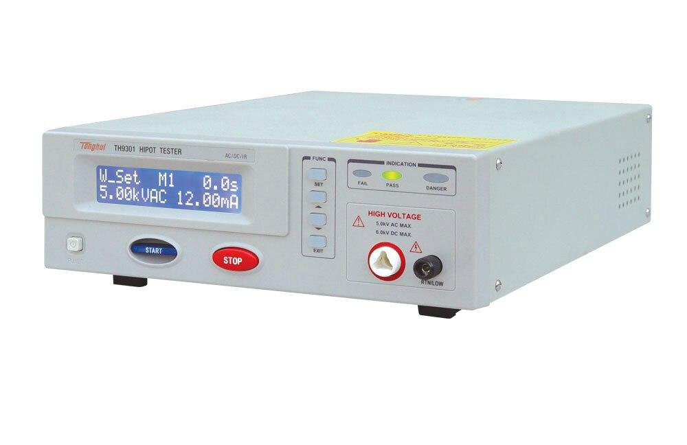Testador de Segurança Chegada Rápida Tensão Suportável Isolamento Tester Elétrica Th9301 ac – dc