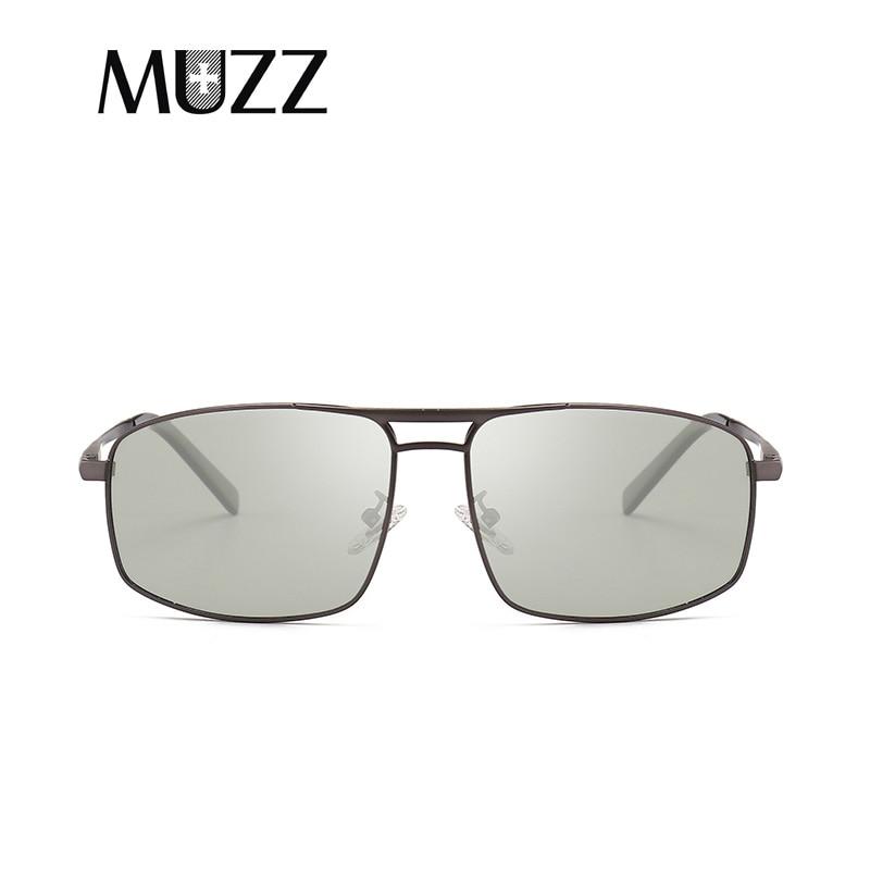 MUZZ polarizadas camaleón decoloración gafas de sol conducir espejo gafas de sol masculino 2018 nuevas gafas de sol con montura de metal