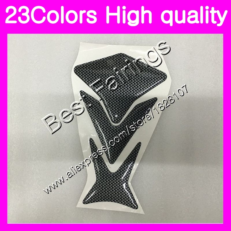 Protector de fibra de carbono 3D para almohadilla de depósito para HONDA CBR125R 02 03 04 05 06 CBR 125R CBR125 2002 2003 2004 05 2006 GP, pegatina para depósito de combustible