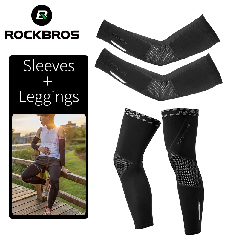 ROCKBROS ciclismo Running Invierno Polar cálido mangas de brazo transpirable coderas deportivos Fitness brazo cubre baloncesto calentadores de brazo