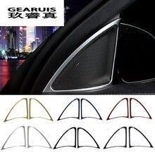 Estilo do carro da Frente Janela Speaker Altifalante Cobre Adesivos Aparar Para Mercedes Benz Classe E w213 E200 E300 E320 Auto Accesoires