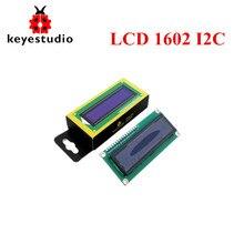 Livraison gratuite! Keyestudio 16X2 1602 I2C/TWI Module daffichage LCD pour Arduino UNO R3 MEGA 2560 blanc en bleu