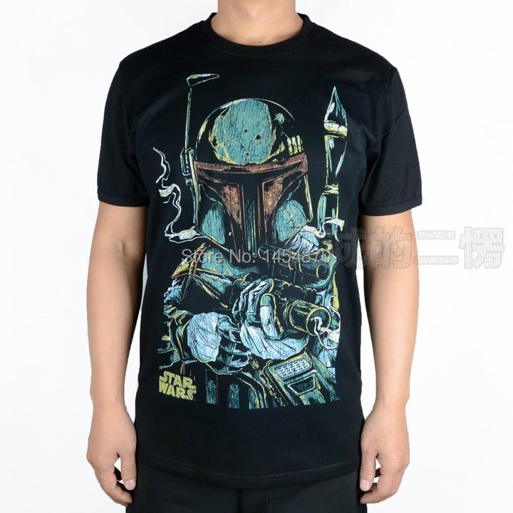 11 diseños película Star Wars Camiseta Darth Vader marca Camiseta 3D fitness 100% algodón negro Boba Fett Sketch Ropa Mujer skateboard