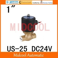 high quality high temperature steam solenoid valve dc24v port 1 two position two way us 25