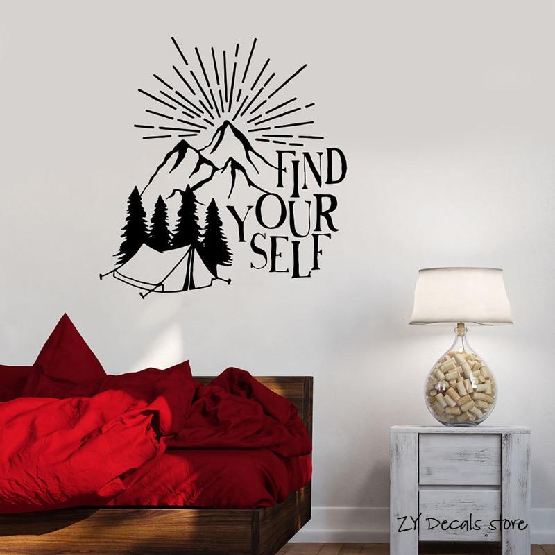 Adhesivos de pared con frase inspiradora, adhesivos de pared motivacionales para la Naturaleza para dormitorio, Mural de arte extraíble para decoración del hogar, papel tapiz L383