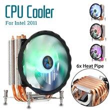 12 Light RGB Fan 6 Heat Pipes CPU Cooler Heatsink Quiet 120mm CPU Fan Cooling Radiator for Intel 2011 for Aurora Lights