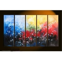 no frame large canvas modern hand painted 5 pieces art oil painting wall decor home decor gift for living room