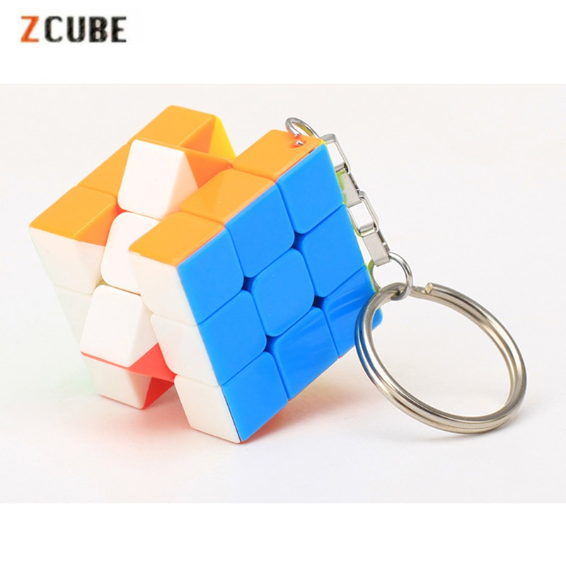 Zcube 30 мм брелок Волшебные кубики 3x3x3 Кубики-головоломки креативные кубики подвесные украшения обучающие игрушки для детей-красочные